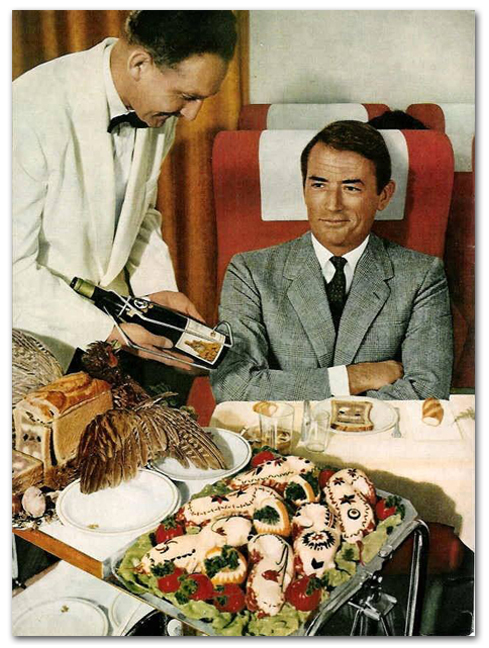 Gregory Peck's In-Flight Meal