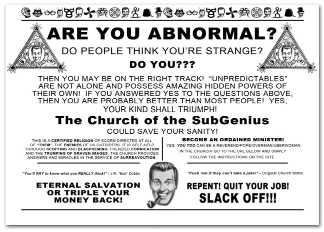 Image result for the church of subgenius